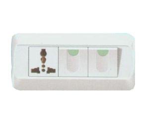 华燕118D―32 二位单/双控开关带五孔插座图片