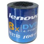 联想DVD-R 8速 可打印 宝石蓝(100片装) 盘片/联想