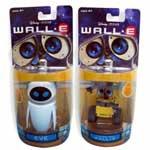 迪士尼机器人总动员WALL.E 6CM 可动伊娃/EVE/瓦力 情侣套装 模型玩具/迪士尼