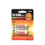 SSK飚王高容量AAA 2500mAh x 2 电池/SSK飚王