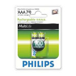 飞利浦900mAh 2节AAA充电电池 电池/飞利浦