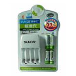 圣奇仕S606标准充套装(含4节2500毫安5号镍氢充电电池) 电池/圣奇仕