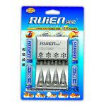 瑞能RK4-805快速充套装(配4节700mAh 7号镍氢电池) 电池/瑞能