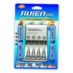 瑞能RK4-805快速充套装(配4节2000mAh 5号镍氢电池) 电池/瑞能