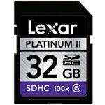 雷克沙白金二代 SDHC 100x(32GB) 闪存卡/雷克沙