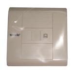 腾达单口插座面板(TD1012) 综合布线/腾达