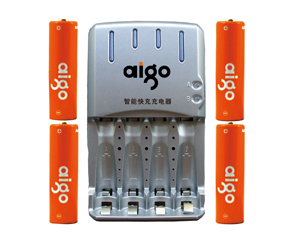 爱国者镍氢电池充电套装5号4粒(2200mAh)图片