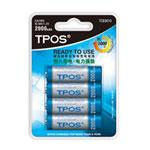 TPOS 镍氢超低自放电充电电池TCB3010(2000mAh 4节装) 电池/TPOS