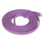 山泽五彩扁平HDMI线 紫色 5米 转接数据线/山泽