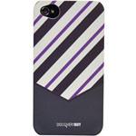 迪思拜尔iPhone 4/4S 领带系列磨砂保护套(线条白灰) 苹果配件/迪思拜尔