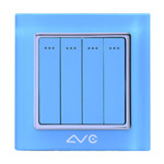 LVC 四位大跷板双控开关LVC6614A 电源设备/LVC