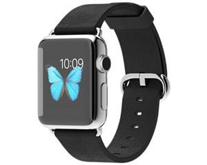 苹果watch(38mm不锈钢表壳搭配黑色经典扣式表带)