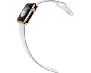 苹果watch Edition(42mm 18K玫瑰金表壳搭配白色运动型表带)