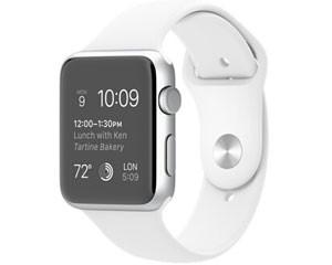 苹果watch Sport(42mm银色铝金属表壳搭配红色/白色/蓝色/绿色/粉色运动型表带)