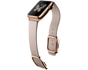 苹果watch Edition(38mm 18K玫瑰金表壳搭配玫瑰灰色现代风扣式表带)