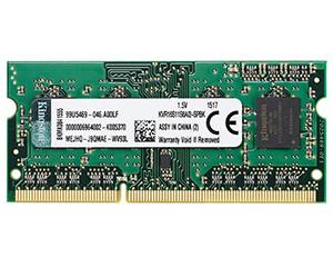 金士顿2GB DDR3 1600(KVR16S11S6A/2-SPBK)图片