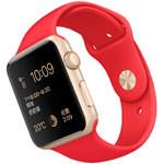 苹果watch Sport(42mm金色铝金属表壳搭配红色运动型表带) 智能手表/苹果