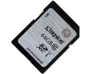 金士顿UHS-I Class10 SD卡(64GB)图片