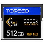 天硕CFast MAX Pro系列 3600X(512GB) 闪存卡/天硕