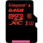 金士顿micro SDXC卡 Class10 UHS-I中国红(64GB) 闪存卡/金士顿