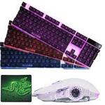 塞德斯赛德斯轻语闪翼发光游戏键鼠套装(牧马人芯片鼠标+机械手感键盘) 键鼠套装/塞德斯