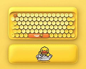 小米洛斐圆点蓝牙机械键盘B.Duck小黄鸭套装