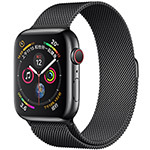 苹果Watch Series 4(40mm表盘/不锈钢表壳/米兰尼斯表带/GPS+蜂窝网络表款) 智能手表/苹果