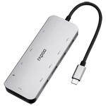雷柏XD200C USB-C 10口扩展坞分线转换器 转接数据线/雷柏