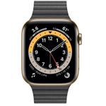 �O果Apple Watch Series 6 44mm(GPS+蜂�C�W�j/不�P�表��/皮制回�h形表��) 智能手表/�O果