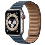 苹果Apple Watch Series 6 44mm(GPS+蜂窝网络/钛金属表壳/皮制链式表带) 智能手表/苹果