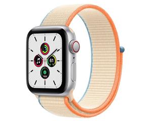 苹果Apple Watch SE 40mm(GPS+蜂窝网络/铝金属表壳/回环式运动表带)