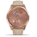 佳明GarminMove Luxe(玫瑰金色表盘/米白色意大利皮表带) 智能手表/佳明