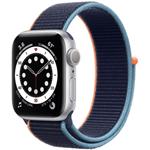 苹果Watch Series 6(40mm/银色铝金属表壳/回环式运动表带/GPS+蜂窝网络) 智能手表/苹果