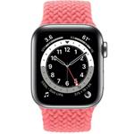 苹果Apple Watch Series 6 40mm(GPS+蜂窝网络/不锈钢表壳/编织单圈表带) 智能手表/苹果