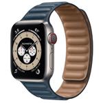 苹果Apple Watch Series 6 40mm(GPS+蜂窝网络/钛金属表壳/皮制链式表带) 智能手表/苹果